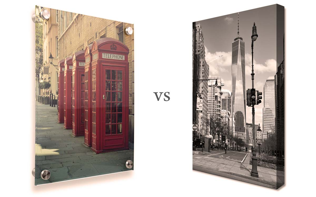 Canvas vs paper print for Newspaper canvas art