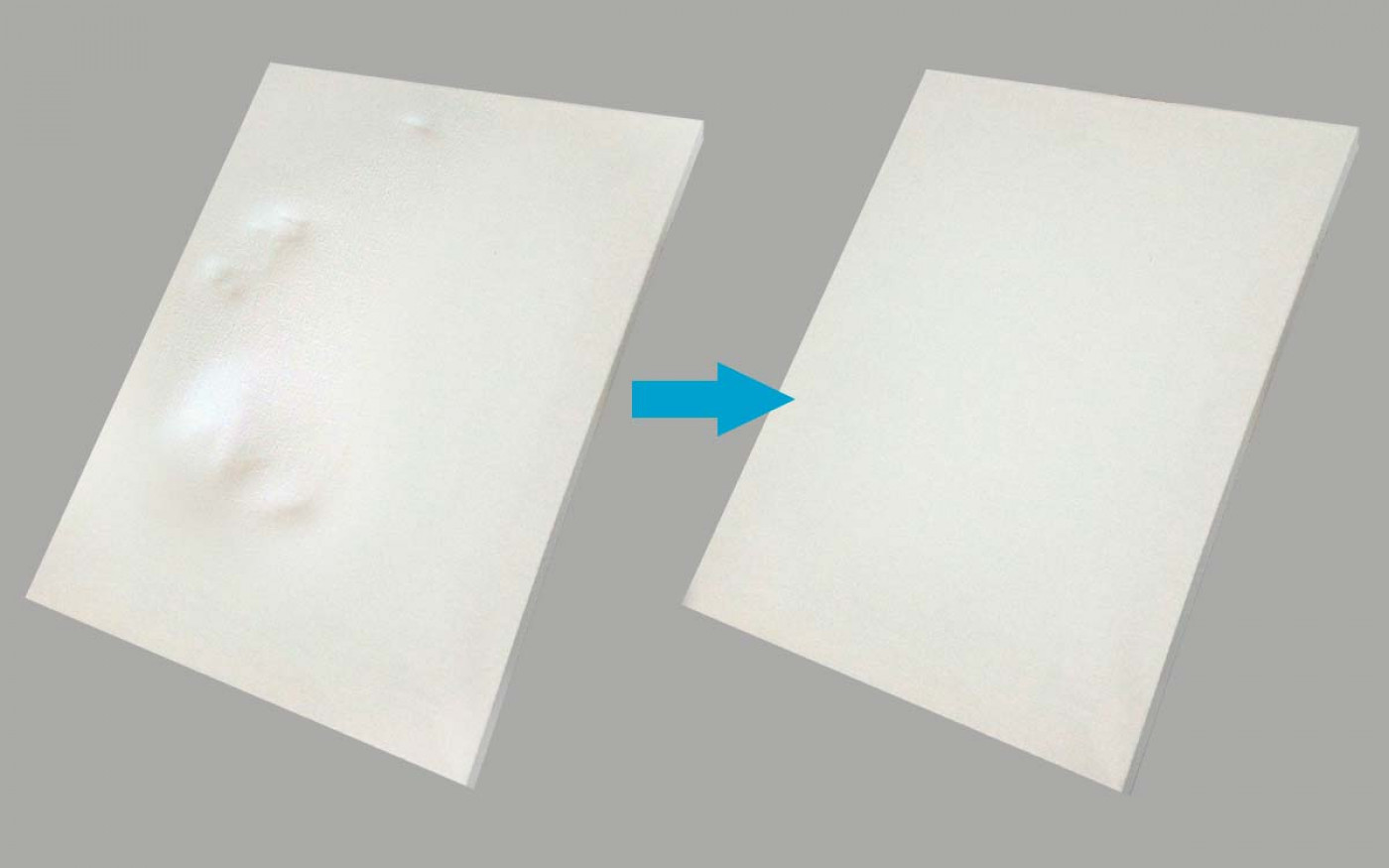 removing dents, wrinkles, and creases on canvas