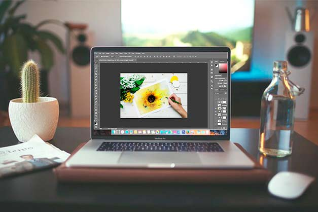 editing image of artwork in photoshop