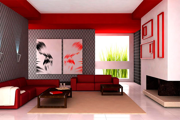 large prints go with a large wall based on proportions